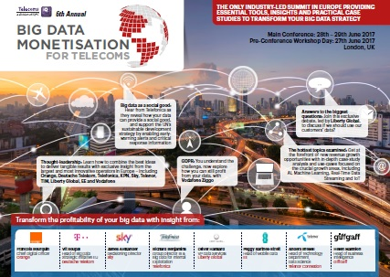 6th Annual Big Data Monetisation for Telecoms Summit: Download Agenda