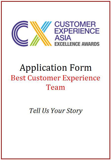 CEM AwardApplication Form - Best Customer Experience Team
