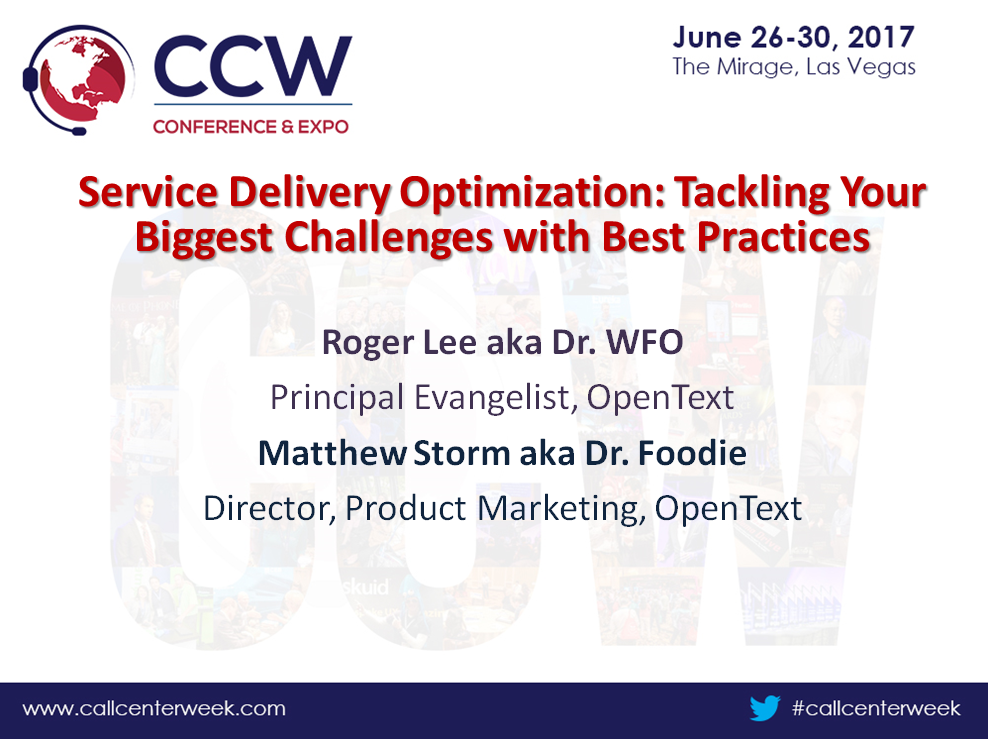 OpenText Presentation: Service Delivery Optimization: Tackling Your Biggest Challenges with Best Practices