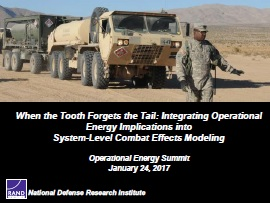 2017 - When the Tooth Forgets the Tail: Integrating Operational Energy Implications into System-Level Combat Effects Modeling