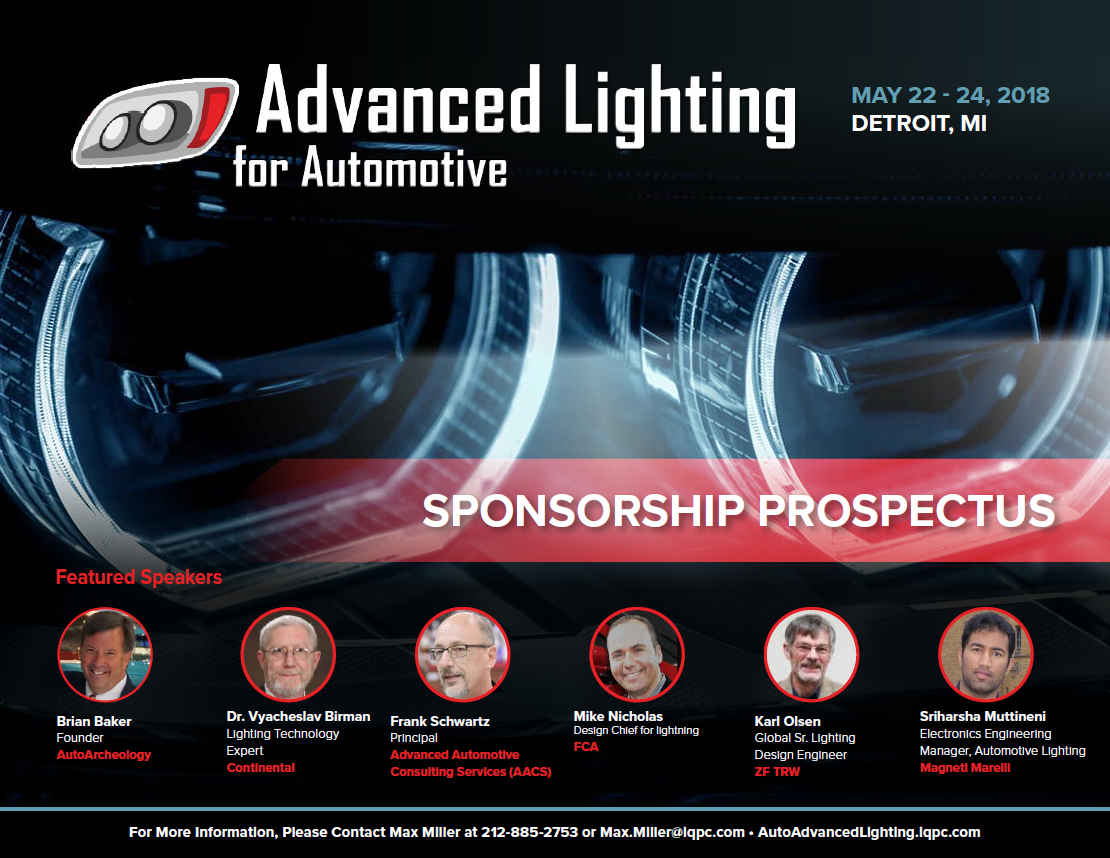 Advanced Lighting for Automotive 2018 - Sponsorship Prospectus