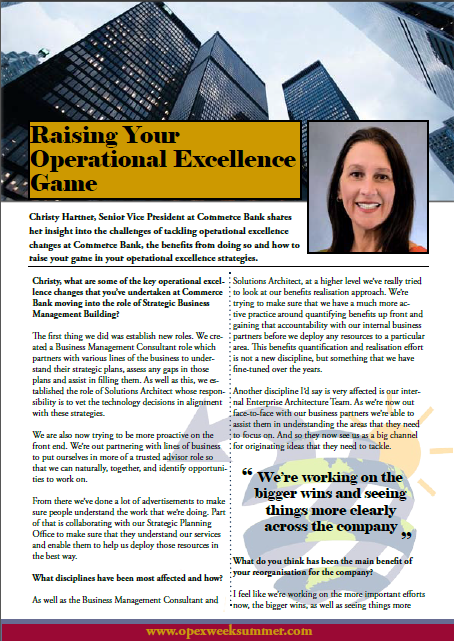 Raising Your Operational Excellence Game