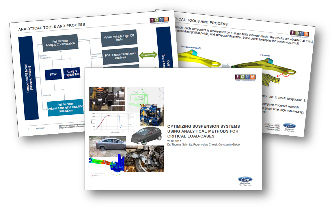 Ford on optimizing suspension systems using analytical methods for critical load-cases