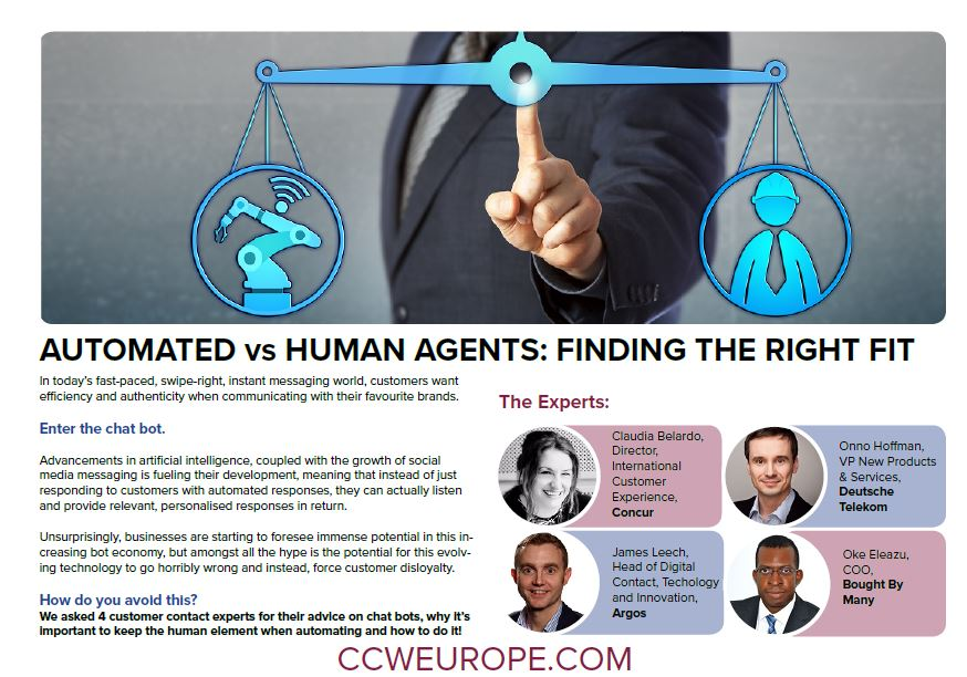 AUTOMATED vs HUMAN AGENTS: FINDING THE RIGHT FIT