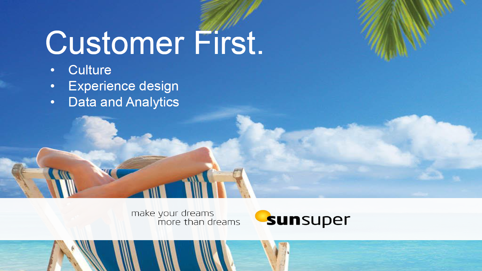 Customer First - Customer first culture, Customer led experience design and Data driven decision making