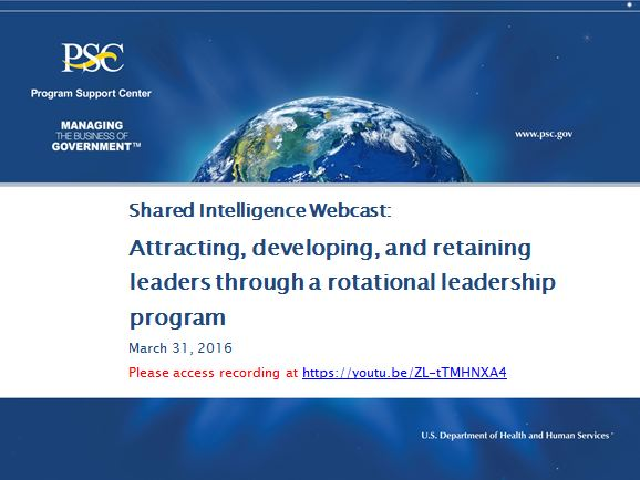 Attracting, developing, and retaining leaders through a rotational leadership program (webcast)