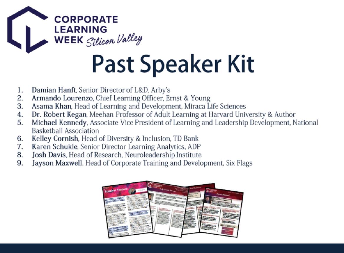 Past Speaker Lookbook