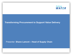 Transforming Procurement to Support Value Delivery