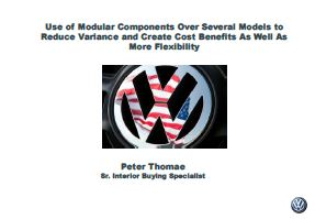 Use of Modular Components Over Several Models to Reduce Variance and Create Cost Benefits As Well As More Flexibility