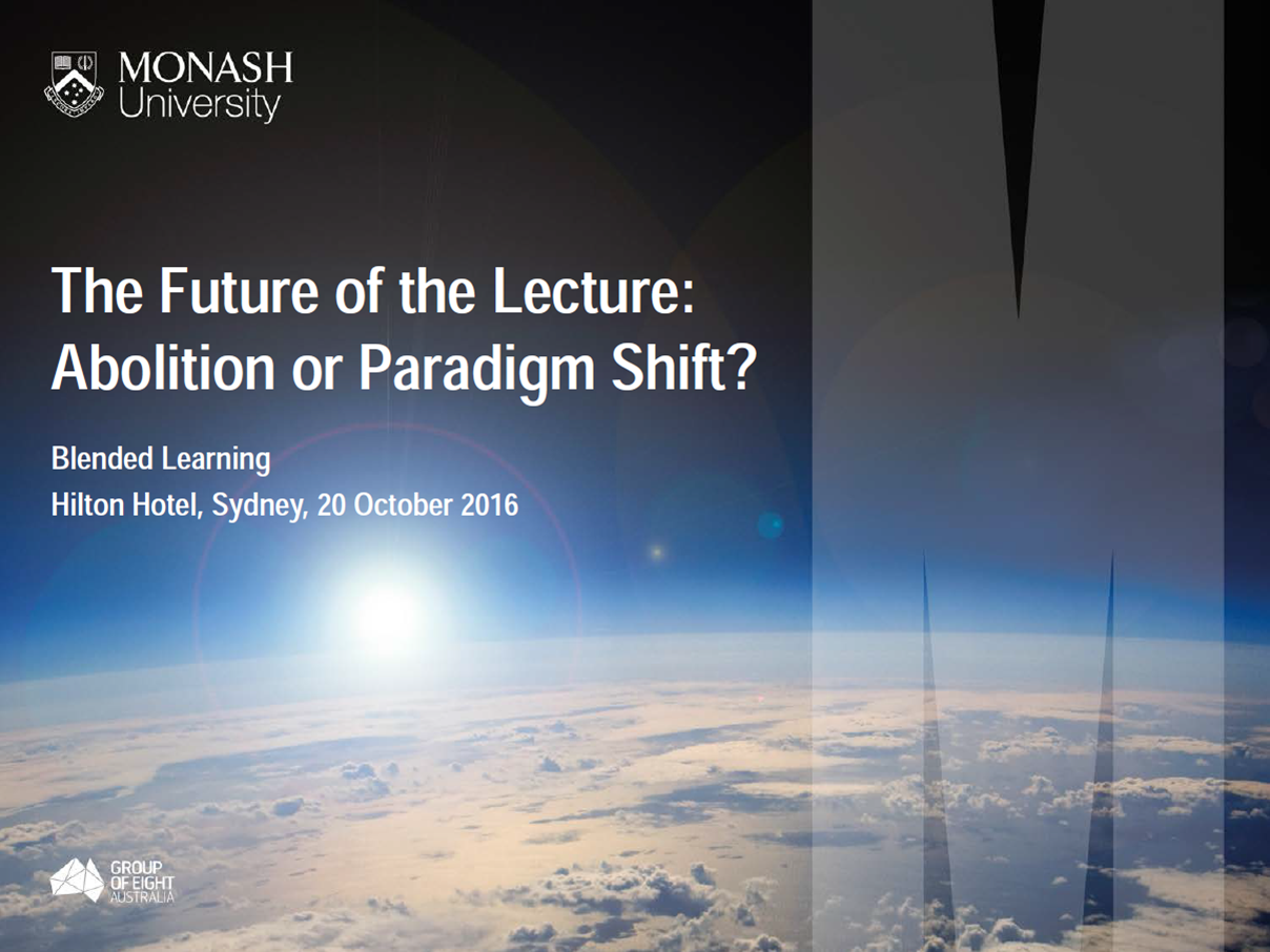 The Future of the Lecture: Abolition or Paradigm Shift?