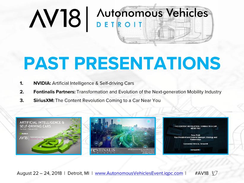 Autonomous Vehicles Past Presentations
