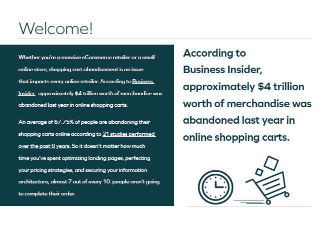 The Definitive Guide to Improving eCommerce Conversions: Solving Shopping Cart Abandonment