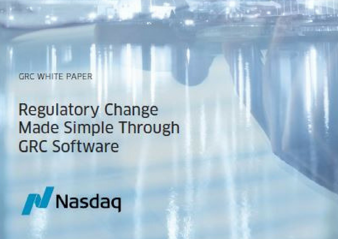Regulatory Change Made Through GRC Software Whitepaper