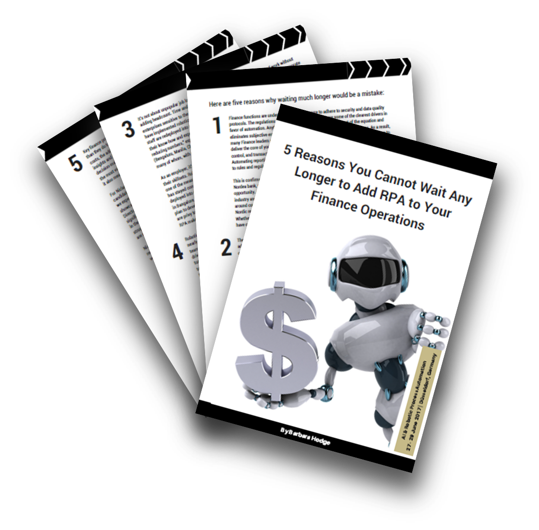 5 Reasons You Cannot Wait Any Longer to Add RPA to Your Finance Operations