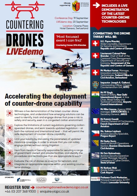Countering Drones Live Demo On-Site Agenda
