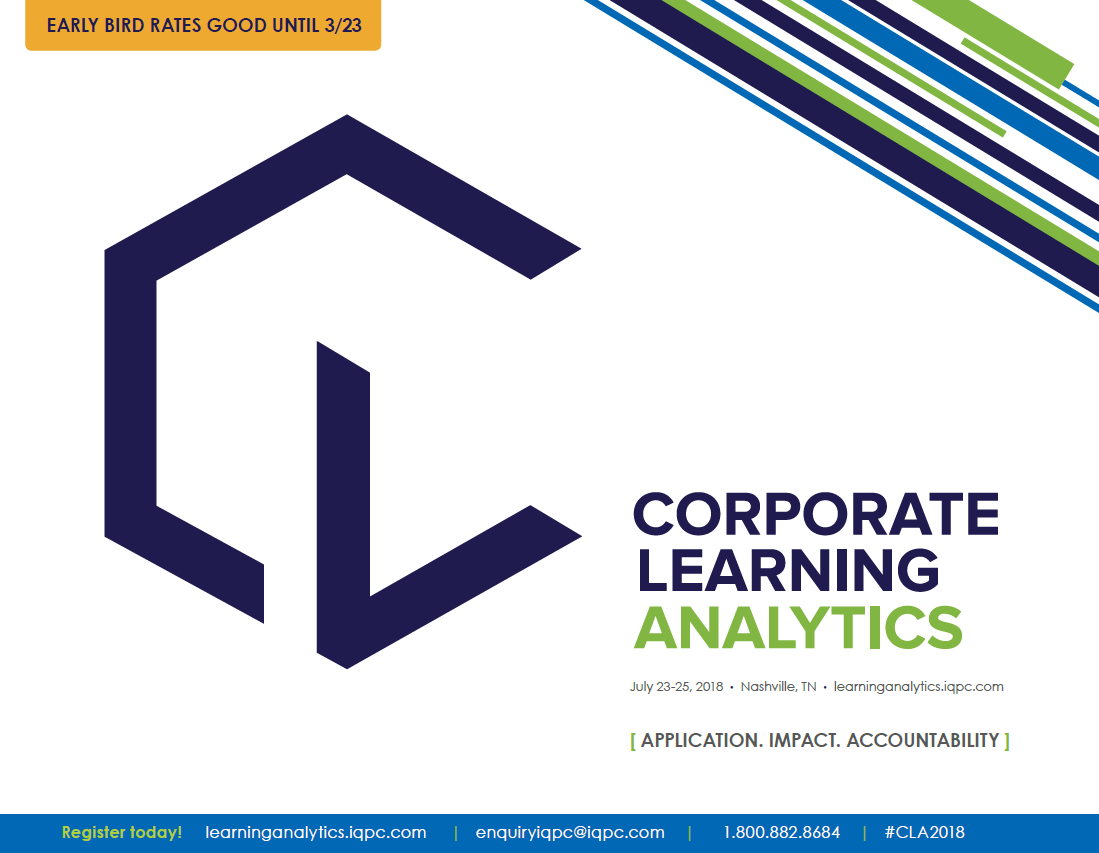 Corporate Learning Analytics - See the Agenda!
