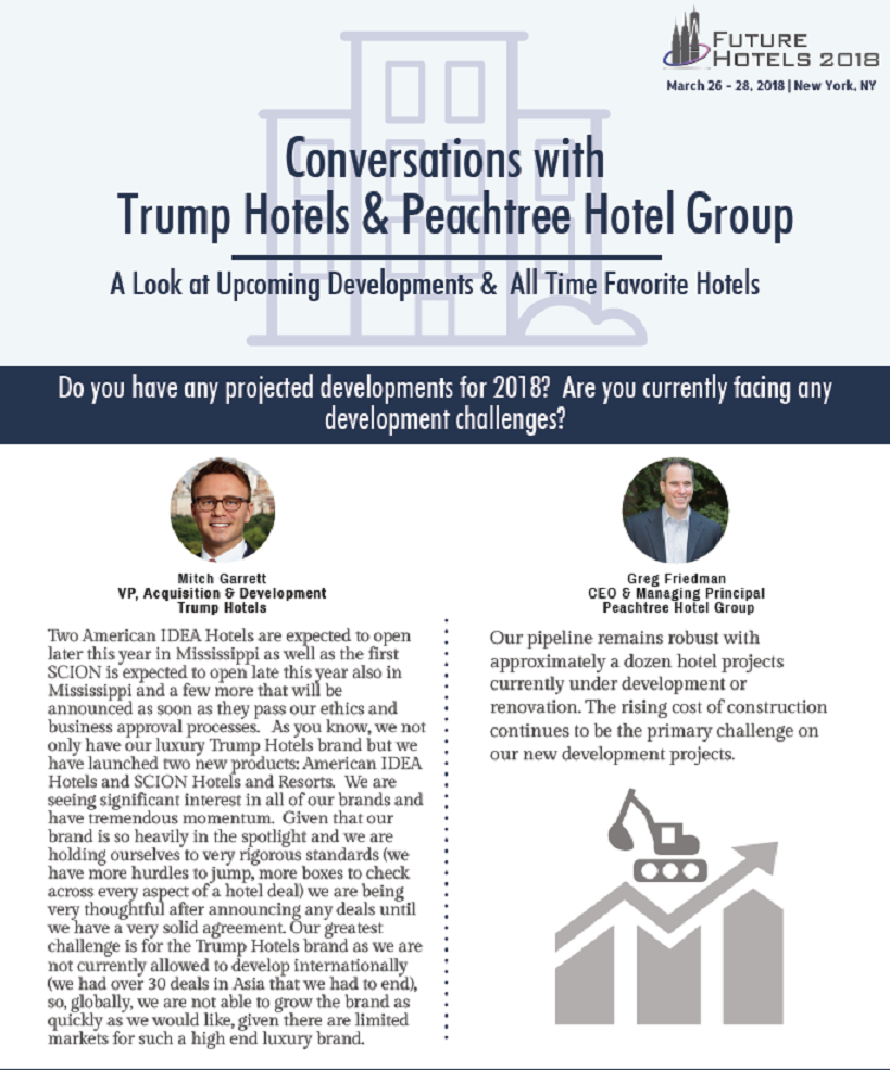 Conversations with Trump Hotels and Peachtree Hotel Group: A Look at Upcoming Developments & All Time Favorite Hotels