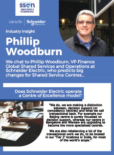 Industry Insight: Philip Woodburn, VP Finance Global Shared Services and Operations, Schneider Electric