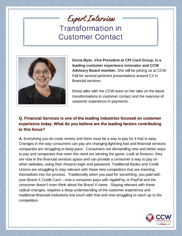 Transformation in Customer Contact
