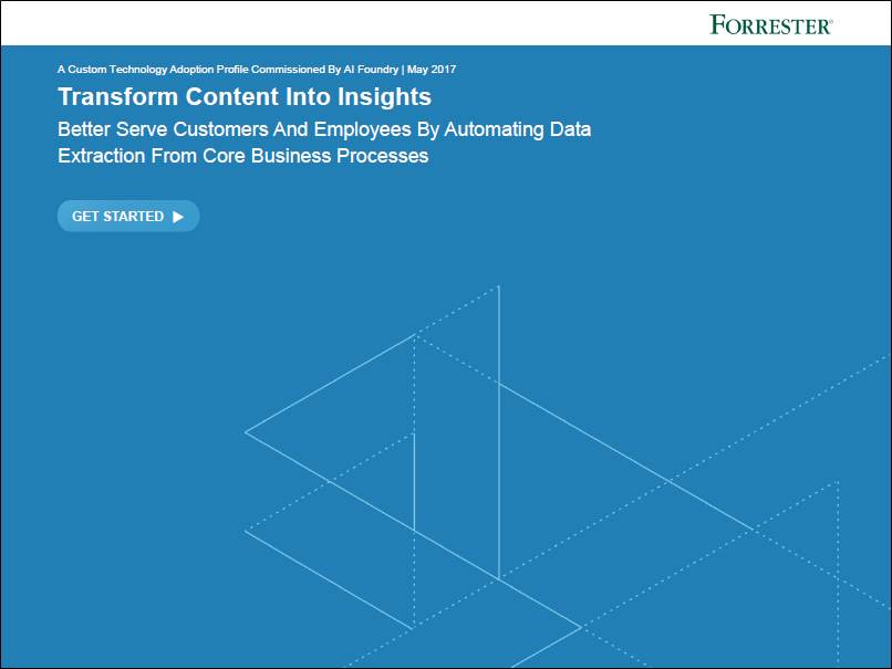Whitepaper: Transform Content Into Insights from AI Foundry and Forrester