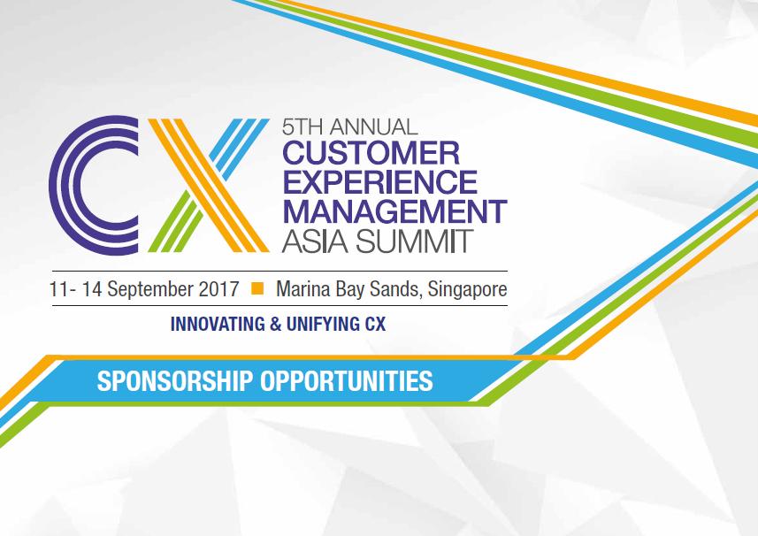 Customer Experience Asia 2018 Sponsorship Prospectus