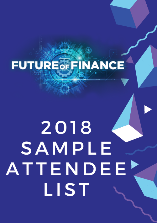 Future of Finance Summit 2018 Attendee List