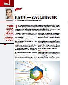 Etisalat's 2020 landscape on network concept