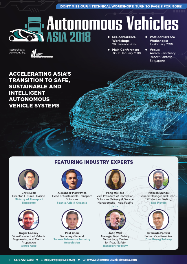 2019 Autonomous Vehicles Asia Summit Preliminary Agenda