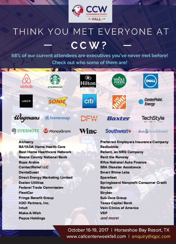 New Companies at CCW Fall