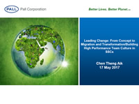 Leading Change: From Concept to Migration and Transformation/Building a High Performing Team Culture in SSC
