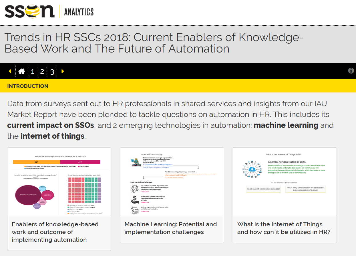 Trends in HR SSCs 2018: Current Enablers of Knowledge-Based Work and The Future of Automation