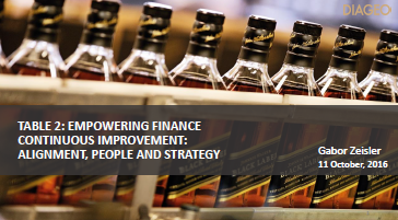 Diageo: Empowering Finance Continuous Improvement: Alignment, People And Strategy (2016 Presentation)