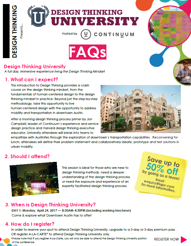 Design Thinking University FAQs