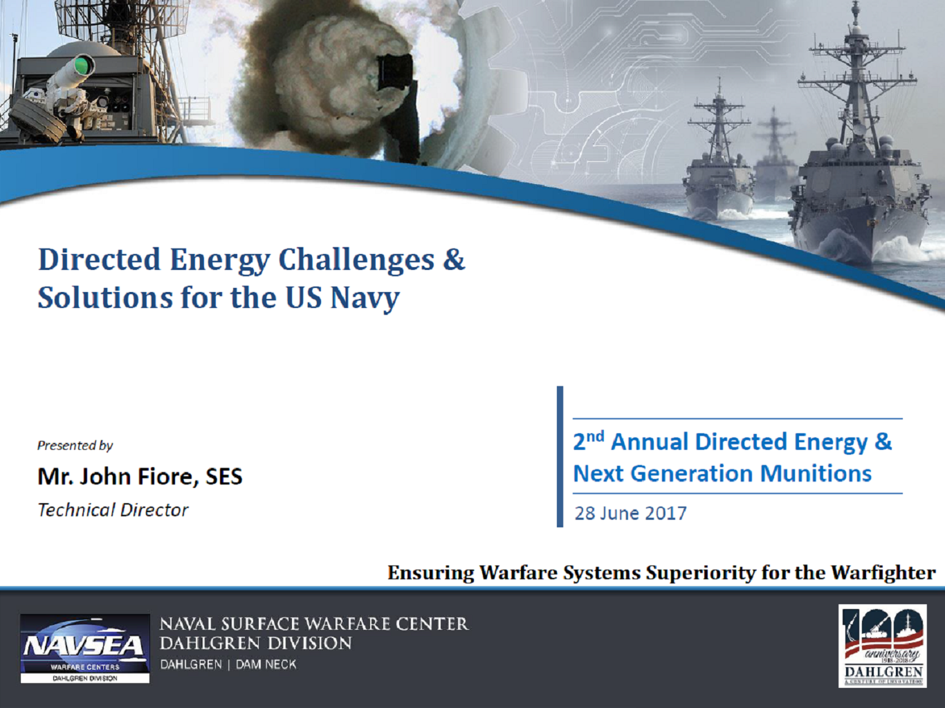 Directed Energy Challenges and Solutions for the U.S. Navy