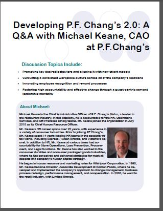 Developing P.F. Chang's 2.0: A Q&A with Michael Keane, CAO at P.F.Chang's