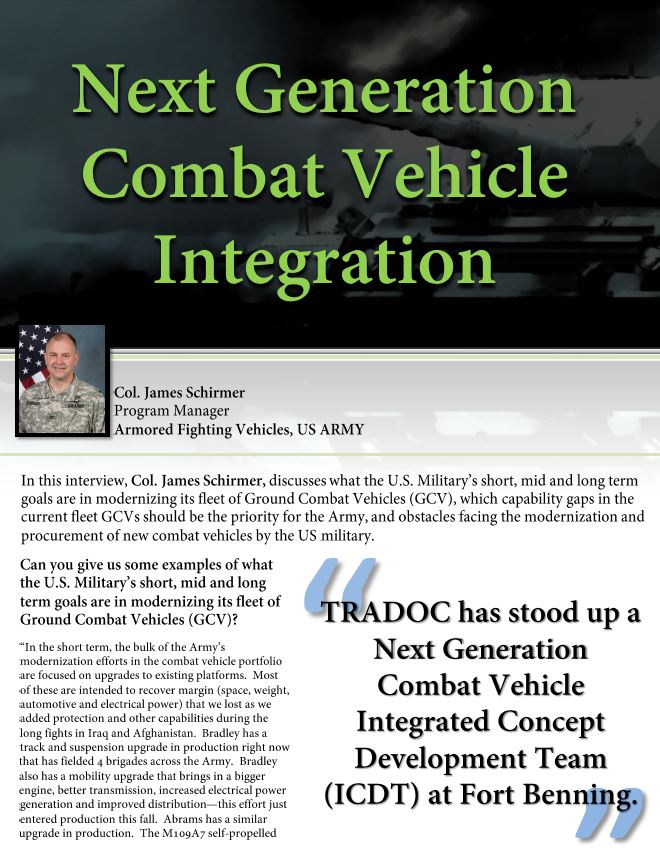Next Generation Combat Vehicle Integration