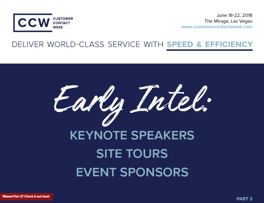 Customer Contact Week Vegas: Early Intel Part 3