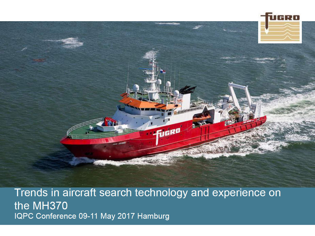 Fugro Presentation on Trends in Aircraft Search Technology