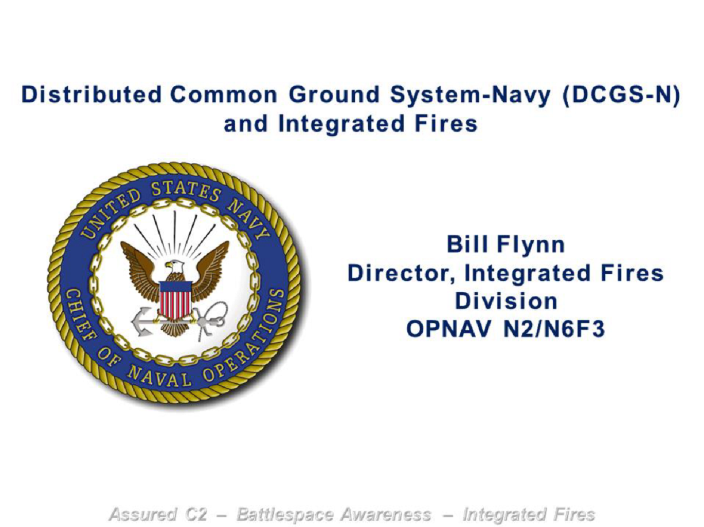 Navy's Intelligence Perspective on Addressing DCGS Updates to Combat Security Threats