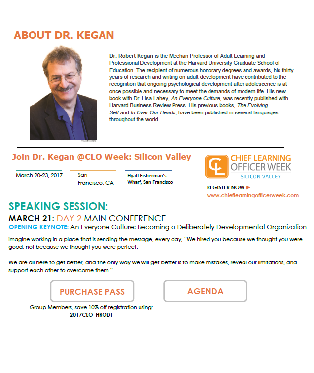 Speaker Feature: Dr. Robert Kegan