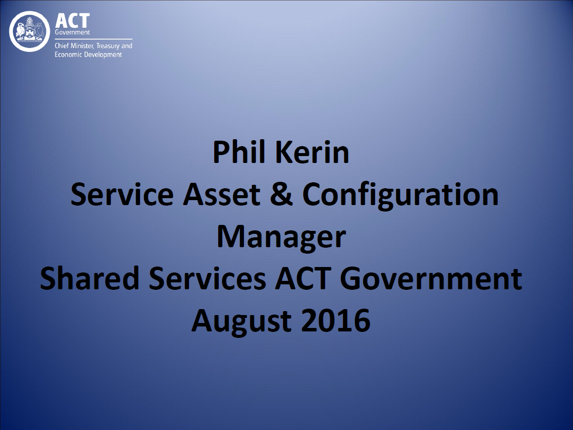 Insights into asset management at ACT Government