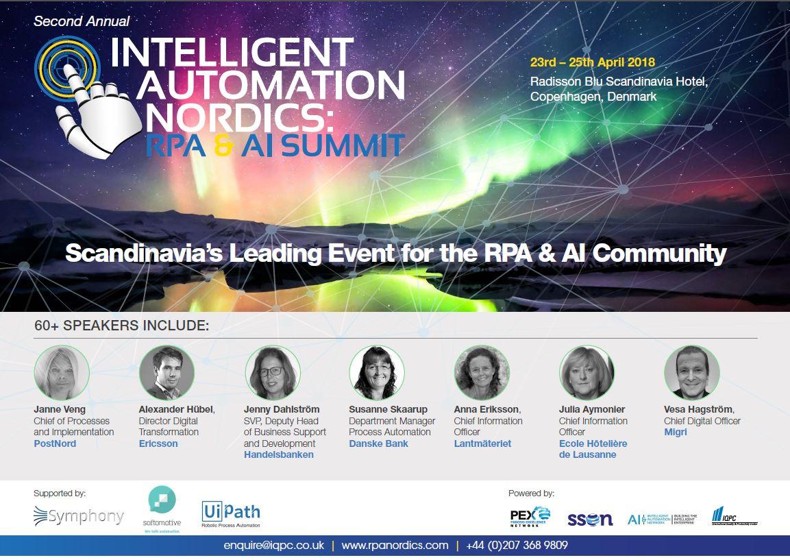 Intelligent Automation Nordics: RPA & AI Summit Agenda