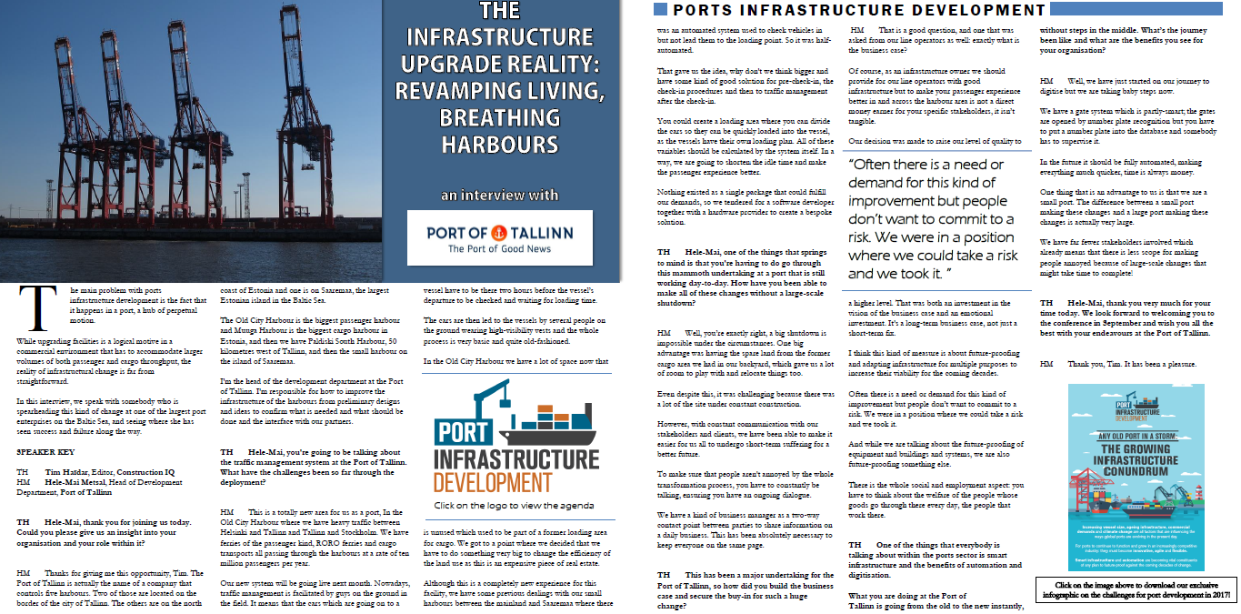 Interview with the Port of Tallinn: The infrastructure upgrade reality - Revamping living, breathing harbours