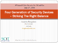 Four Generations of Security Devices – Striking The Right Balance