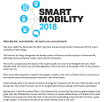 PRESS RELEASE: Smart Mobility – the road to one connected world