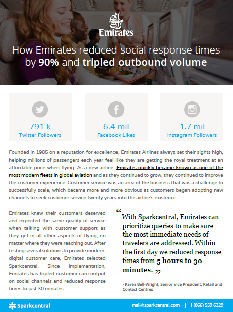 How Emirates reduced social response times by 90% and tripled outbound volume