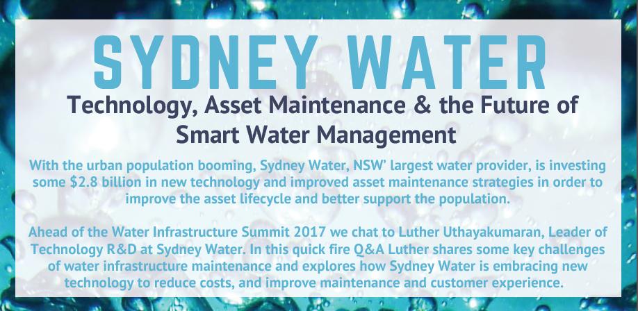 Technology, Asset Maintenance & the Future of Smart Water Management