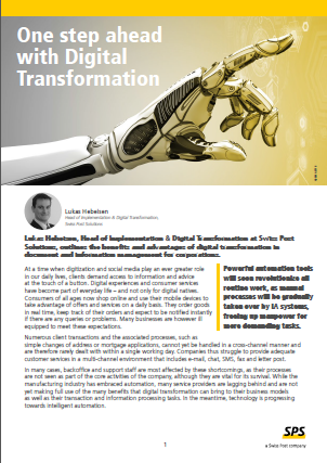 One Step Ahead with Digital Transformation