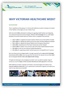 Business Case: Why Sponsor Victorian Healthcare Week 2017?