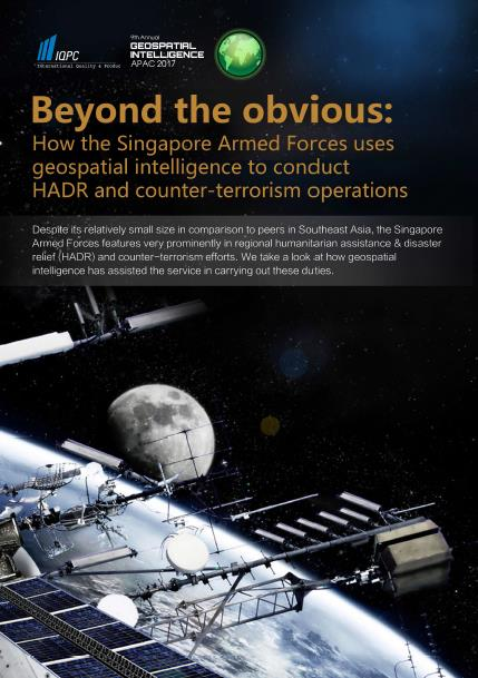 Beyond the obvious: How the Singapore Armed Forces uses geospatial intelligence to conduct HADR and counter-terrorism operations